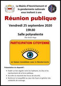 Réunion publique : participation citoyenne @ Salle polyvalente