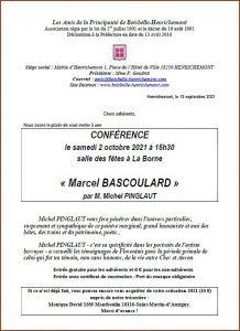 Conférence de l'association Les Amis de la principauté de Boisbelle-Henrichemont